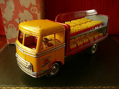 Very Rare Goso Goeso 467 Tin Friction Coca-Cola Delivery Truck w/ Or. Box