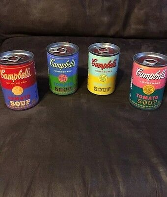 Andy Warhol 4 Campbells Soup Can Set