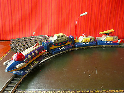 Extremely Rare Sankei Cragstan Japan Tin Battery Space Exploration Train Robot