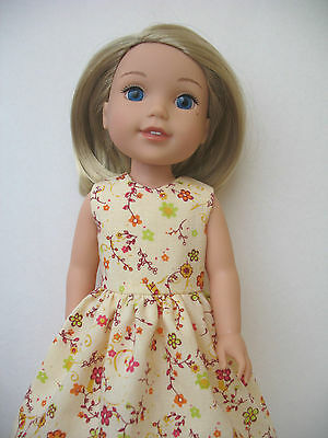 """Clothes for American girl Wellie Wishers 14.5 """"Doll Dress"""