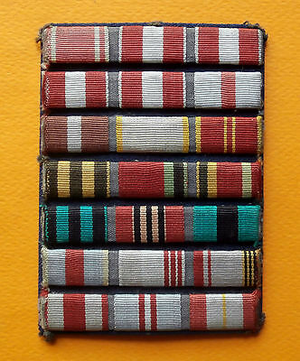 Soviet Russian attached ribbon bars on 21 medals of the Soviet Army,1970 - 1991