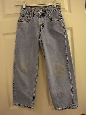 Levi's 550 Relaxed Fit Regular Distressed Denim Jeans Size 8