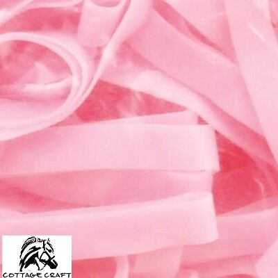 Cottage Craft Magic Plaiting Bands 500 *SILICONE* Super Stretchy **PINK**