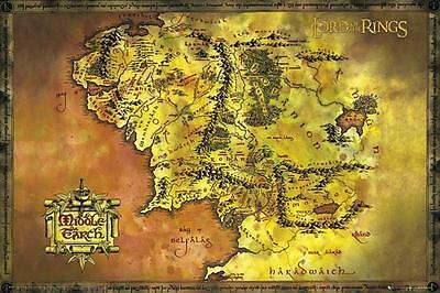 Lord of the Rings : Classic Map - Maxi Poster 61cm x 91.5cm new and sealed