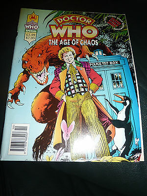 The Dalek Chronicles Comic Magazine Doctor Who Terry Nation Marvel Unread, RARE