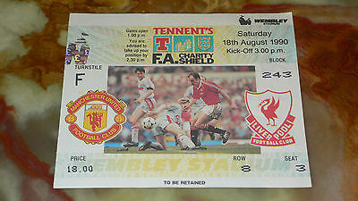 Ticket 1990 FA Charity Shield - LIVERPOOL v. MANCHESTER UNITED