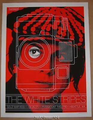 Rob Jones The White Stripes Seattle Jack Tour Poster Print Signed Numbered 2007