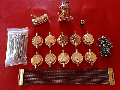 Dw Drum Workshop Collectors Snare Drum Lugs Mag Throw Off 3P Plate Copper Finish