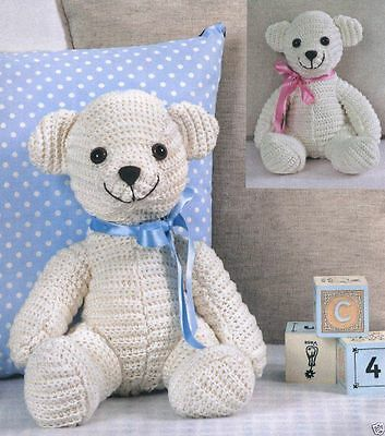 Twilleys Linnypin Collection Soft Toy / Bear Making Kit 1001 Crochet Cream Bear