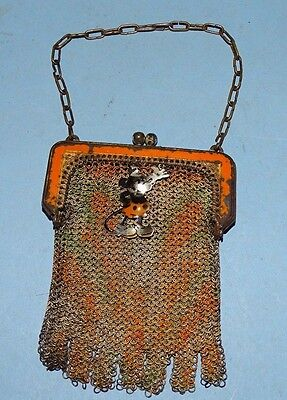 Mickey & Minnie Mouse Mesh Change Purse Whiting & Davis 1930's