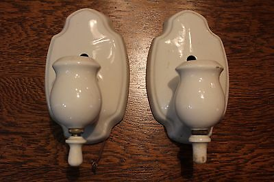 Pair Of Porcelier Wall Light Fixture Porcelain Sconce Art Deco Vintage