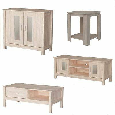 New Sonoma Oak Wooden Tv Coffee Side Table Sideboard Unit Living Room Furniture