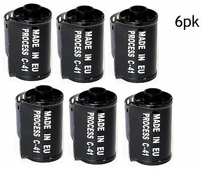 (6) rolls - C-41 ILFORD 35mm black and white exposure print film 400 27 exp 3/17