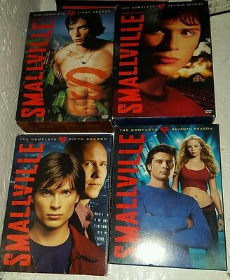 Smallville Complete Series 1 2 5 and 7  (DVD SET) Box sets