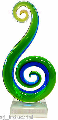 Coloured Glass Art Sculpture - Professionally Hand Blown - High Quality