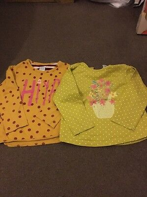 Mamas & Papas Girls Pack Of 3 Tops Age 4-5 Years