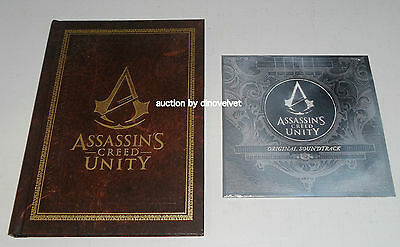 Assassin's Creed Unity Collector's Edition Art Book & Soundtrack Cd New Sealed