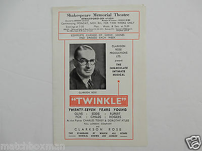 Twinkle Circa 1946 Shakespeare Memorial Theatre Olive Fox Rupert Rogers B157/14