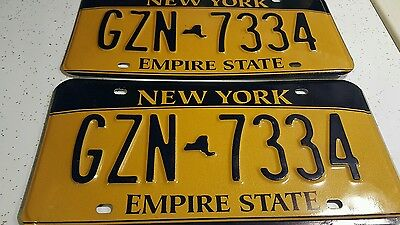 Set of New York Licence Plates GZN 7334 / Empire /