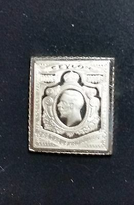 Sterling Silver Stamp Miniatures THE GREATEST STAMPS OF THE WORLD Franklin set