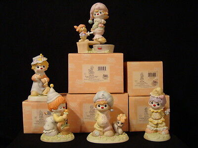 t Precious Moments *EXTREMELY RARE* Clown Series-SET OF 5 Boxed