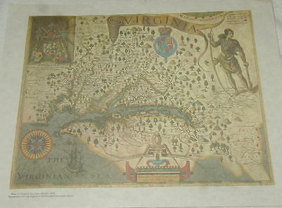 3 Vintage Reproductions Of Old Maps, Virginia, London-Oxford Road, Sphere !!