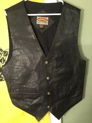 Vintage Genuine Leather Vest Paragraff Clothing Co. Men's Medium