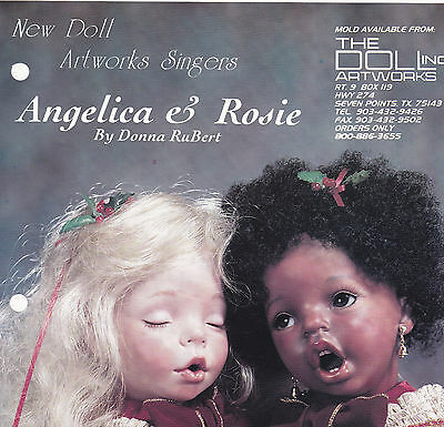 Porcelain Doll Mold *rosie* Aa Head For 14 In Doll - Doll Artworks Carolers