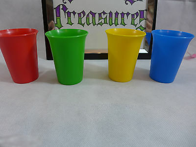 Tupperware New Primary Bell Tumblers Cups  Kids Toddlers Set of 4