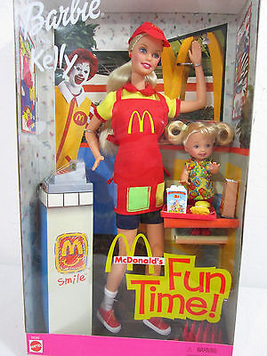 McDonald's Fun Time Barbie and Kelly Dolls