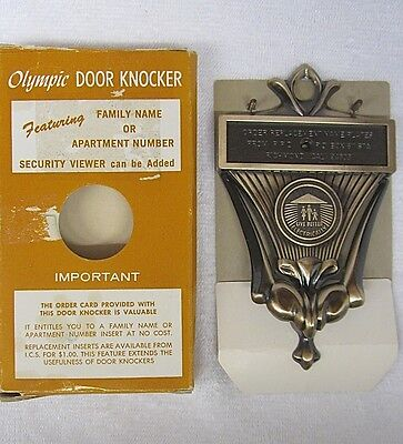 NEW Vtg OLYMPIC Live Better ELECTRICALLY DOOR KNOCKER Mid Century Modern NOS NIB