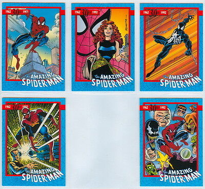 Amazing Spider-Man 30th: Complete 5 Card Promo Set