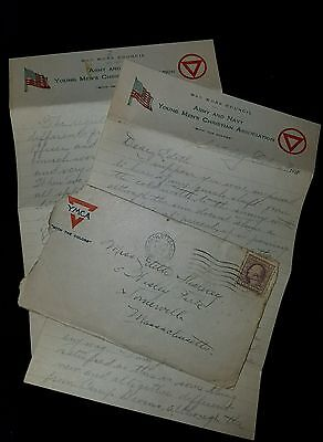 1918 Camp Greene Nc Ww1 4 Page Letter From Soldier In Charlotte North Carolina