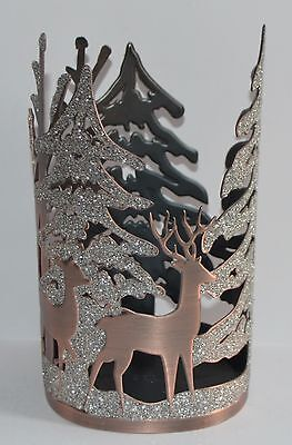 Bath & Body Works Sparkly Forest Tree Deer Hand Soap Sleeve Holder Foaming Deep