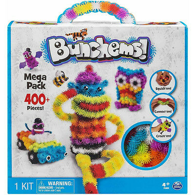 Bunchems - Mega Pack Squish Play Critter Over 400 Pieces Toy Xmas Festival Kids