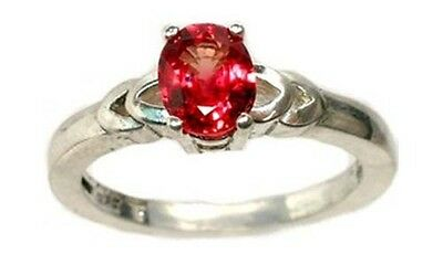 19thC Antique 1ct Red Sapphire Medieval Gem Saturn Agriculture Justice Strength