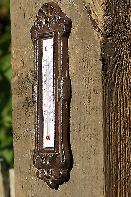 Thermometer Gusseisen Antikstil Wandthermometer Aussenthermometer