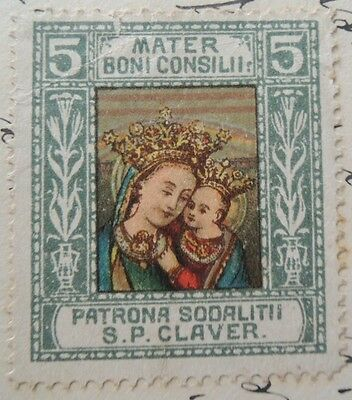 1915 Order of S.P. Claver very rare stamp