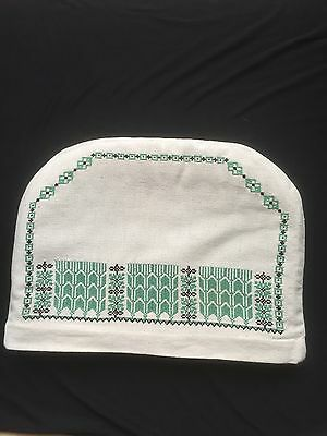 Unusual, Large Hand Embroidered Ramallah work Tea Cosy. + spare cover