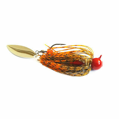 BBCB Carica Jig Willowleaf Blade - Switchblade Swim Jig - Skirted Jig Rubber Jig