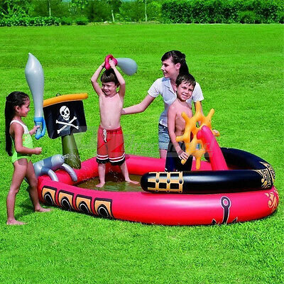 Bestway Pirate Ship Paddling Play Pool With Inflatable Swords & Water Cannon