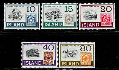 ISLANDIA/ICELAND 1973 MNH SC.449/453 First Postage Stamps