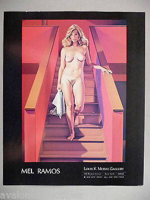 Mel Ramos Art Gallery Exhibit PRINT AD - 1989
