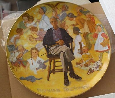 Decorative Collectible NORMAN ROCKWELL REMEMBERED 1979 Artist Museum Plate