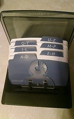 Rolodex Card File With Cards and Dividers Unused