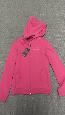 Levi's Girls Pink Zipped Hoodie with Pockets Size 12 Yrs BNWT