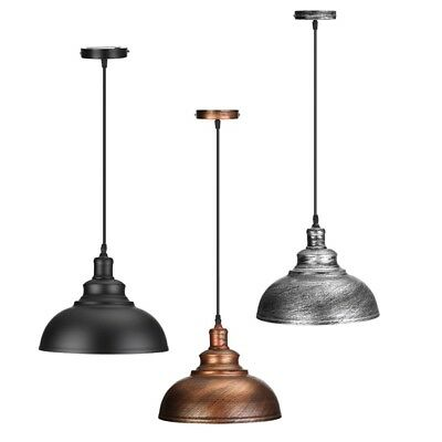 Curvy Vintage Industrial Edison Metal Hanging Light Art Deco Lampshade New Brand