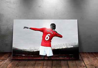 Paul Pogba Dab Manchester United Star A3 Canvas