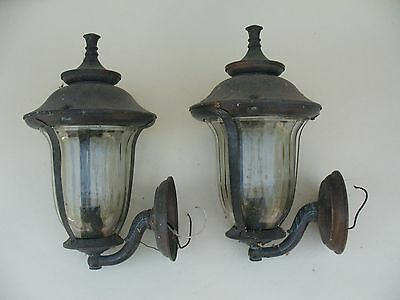old Estate metal carriage lights wall SCONCES wall lights lamps entry fixtures 2