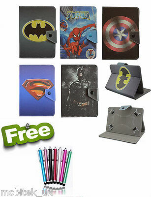 "Common Universal Tablet 9.7"" & 10.1"" inch Case Cover Kids Cartoon Batman Leather"